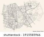 black simple detailed street... | Shutterstock .eps vector #1915585966