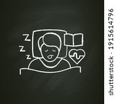experiences asleep chalk icon.... | Shutterstock .eps vector #1915614796