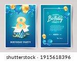 8th years birthday vector...   Shutterstock .eps vector #1915618396