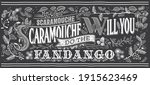 vector illustration  chalk... | Shutterstock .eps vector #1915623469