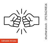 fist bump line icon. bro fist...   Shutterstock .eps vector #1915624816