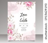wedding invitation card with...   Shutterstock .eps vector #1915629193