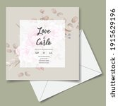 wedding invitation card with...   Shutterstock .eps vector #1915629196