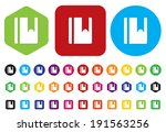 contact icon | Shutterstock .eps vector #191563256