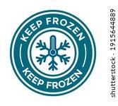 keep frozen or freeze product... | Shutterstock .eps vector #1915644889