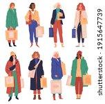 women shopping. femal...   Shutterstock .eps vector #1915647739