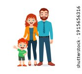 cute little boy with mom and... | Shutterstock .eps vector #1915656316