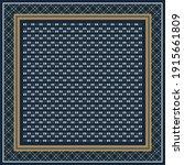 elegant scarf pattern on navy... | Shutterstock .eps vector #1915661809