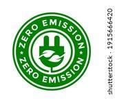 zero emission vector badge...   Shutterstock .eps vector #1915666420