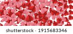 red and pink flying hearts on ...   Shutterstock .eps vector #1915683346