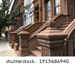 A Row Of Harlem Brownstone...
