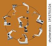 illustration vector of robot... | Shutterstock .eps vector #1915701526
