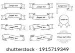 vintage style ribbon... | Shutterstock .eps vector #1915719349