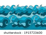 abstract sea background.... | Shutterstock .eps vector #1915723600