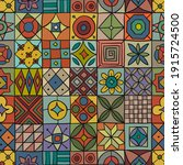 talavera pattern. indian... | Shutterstock .eps vector #1915724500