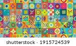 talavera pattern. indian... | Shutterstock .eps vector #1915724539