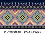 colorful tribal geometric...   Shutterstock .eps vector #1915754293