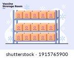 flat illustration of covid 19...   Shutterstock .eps vector #1915765900