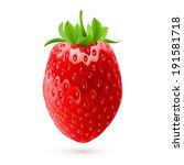 Illustration of fresh strawberry isolated on white background - stock vector