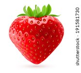 appetizing fresh strawberry... | Shutterstock .eps vector #191581730