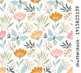 floral seamless pattern with... | Shutterstock .eps vector #1915825159