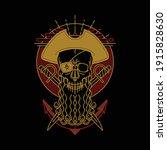 skull pirate line graphic...   Shutterstock .eps vector #1915828630