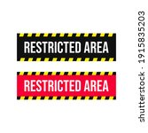 restricted area web buttons...   Shutterstock .eps vector #1915835203