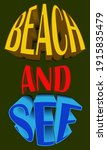 voluminous color inscription... | Shutterstock .eps vector #1915835479
