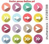 set arrow icons  flat ui design ...