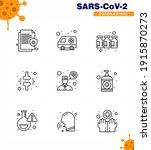 coronavirus awareness icon 9... | Shutterstock .eps vector #1915870273