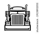 silhouette of semi truck 18...