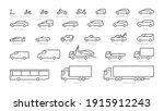 big set outline car icons ... | Shutterstock .eps vector #1915912243