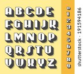 alphabet font and numbers ... | Shutterstock .eps vector #191594186