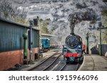 Steam Engine Locomotive Pulling ...