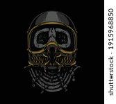 rider monster horror graphic... | Shutterstock .eps vector #1915968850