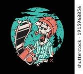 skull chain saw cartoon graphic ...   Shutterstock .eps vector #1915968856