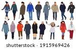 cartoon men and women walking...   Shutterstock .eps vector #1915969426