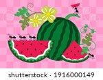 picnic vector illustration.... | Shutterstock .eps vector #1916000149