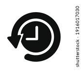 history icon vector   logo ... | Shutterstock .eps vector #1916017030