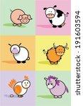 cartoon farm animals with pig ...