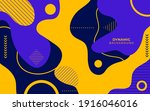 abstract flat colorful dynamic...   Shutterstock .eps vector #1916046016