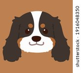 flat colored tricolor cavalier...   Shutterstock .eps vector #1916048350