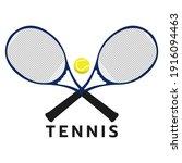 tennis logo  tennis ball with...   Shutterstock .eps vector #1916094463