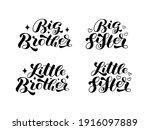 set big brother  big sister ... | Shutterstock .eps vector #1916097889