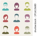 Trendy Flat People Icons