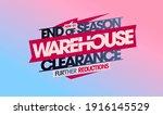 end of season warehouse...   Shutterstock . vector #1916145529