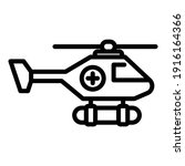 coast rescue helicopter icon....   Shutterstock .eps vector #1916164366