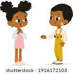 two african american children... | Shutterstock .eps vector #1916172103