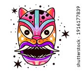 maya culture mask. ethnic...   Shutterstock .eps vector #1916177839