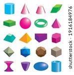 set of volumetric geometrical... | Shutterstock .eps vector #1916184976